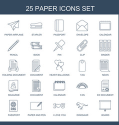 25 paper icons vector