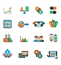 A-b Testing Icons Set vector