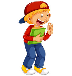 A cute boy character vector