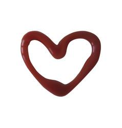 A heart shape ketchup vector
