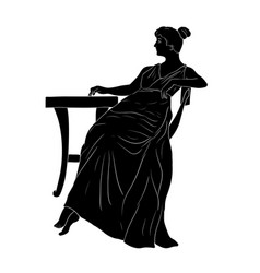 A young woman vector