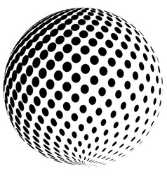 Abstract halftone globe logo symbol icon vector