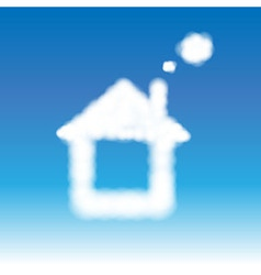 Abstract House From Clouds In Blue Sky vector