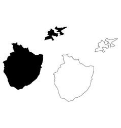 Appenzell innerrhoden map vector