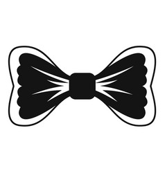 Big bow tie icon simple style vector