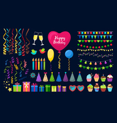 Birthday party collection vector