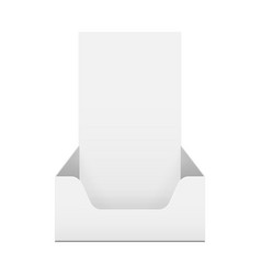 box holder for advertising fliers vector image