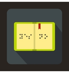 Braille icon flat style vector