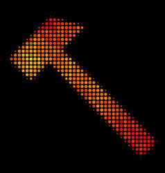 Bright pixel hammer icon vector