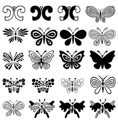 butterfly ornament vector image