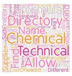 Chemical Directory Can Come in Two Flavors text vector