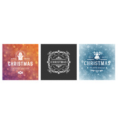 christmas photo overlays vintage typographic vector image