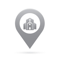 church map pointer icon marker gps location flag vector image
