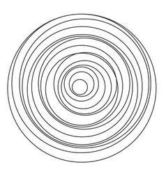 circular spiral sound wave vector image