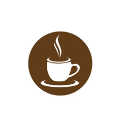 Coffee cup logo template icon design vector