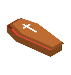 coffin icon isometric style vector image
