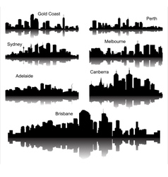 collection detailed silhouettes austria vector image
