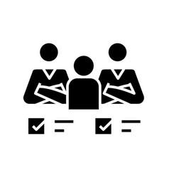 Collective tasks black icon concept vector