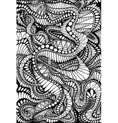 Coloring page abstract pattern maze line vector