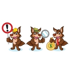 Coyote Mascot with money vector