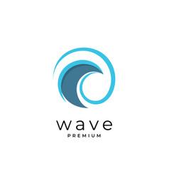 creative wave logo design symbol template vector image