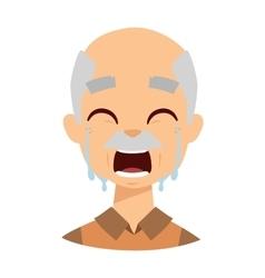 Crying grandpa vector