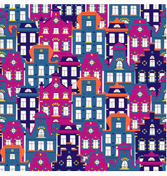 cute seamless pattern with doodle traditional vector image