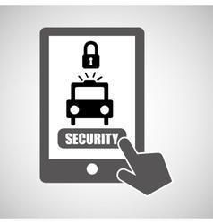 Data protection smartphone warning alert icon vector