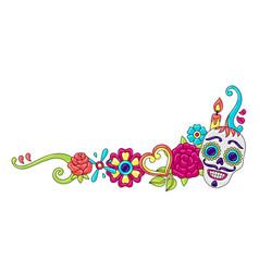 Day dead decoration sugar skulls vector