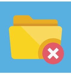 Delete Folder Icon vector image