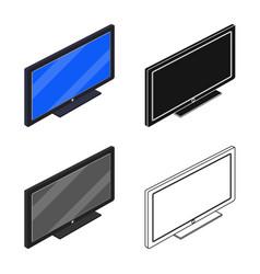 Design of bedroom and room logo set of vector