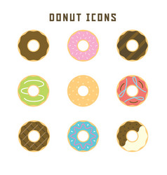 donut icons vector image
