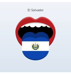 El Salvador language Abstract human tongue vector