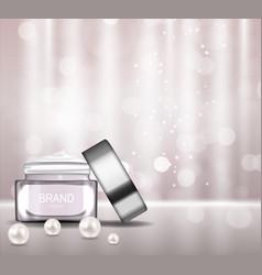 Face cream bottle tube template for ads vector