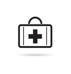 first aid case icon vector image