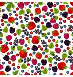 Fresh berries seamless pattern vector image