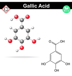 Gallic acid molecule vector image