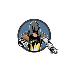 game team warrior cartoon character vector image
