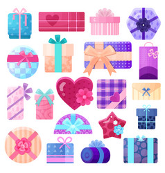 gifts boxes and packages set vector image
