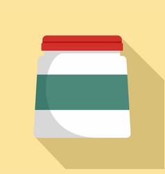 glue jar icon flat style vector image