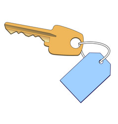 gold key with a label vector image