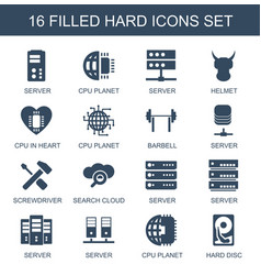 hard icons vector image