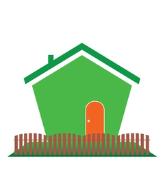 house in green color vector image