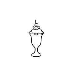 ice-cream hand drawn sketch icon vector image