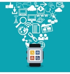 Internet of things and media design vector