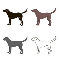 Labrador icon in cartoon style for web vector