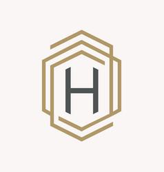 letter h symbol vector image