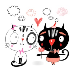 Love kittens vector