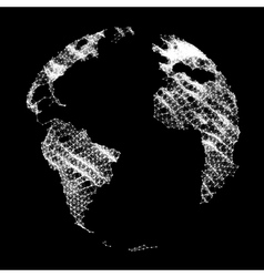 Map of the World Global Network Mesh vector image