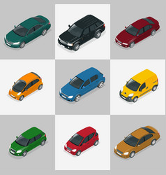 modern car set vector image